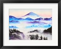 Framed Mountain Mist Landscape