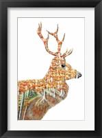 Framed Spirit of the Forest Deer Landscape