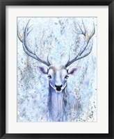 Framed Blue Spirit Deer
