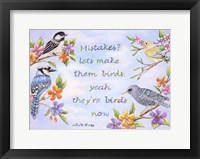 Framed Birds and Flowers Quote