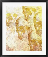 Framed Gold Skulls