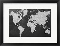 Framed Grey Map