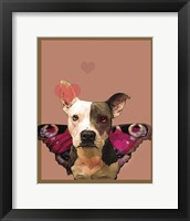 Framed Butterfly Dog 2