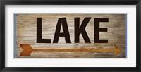 Framed Lake Sign 1