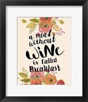 Framed Wine Breakfast Print