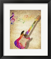 Framed Color Music Guitar