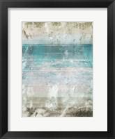 Framed Aqua Space 1 Contemp 1