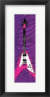 Girl Electric Guitar Framed Print