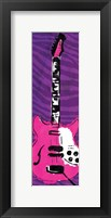 Girl Electric Guitar Mate Framed Print