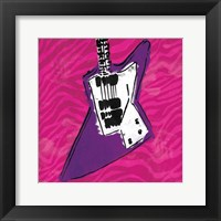 Girls Rule Guitar Zoom Mate Framed Print