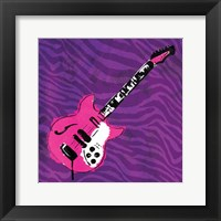 Girly Guitar Mate Framed Print