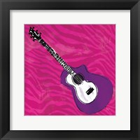 Girls Rock Guitar Framed Print