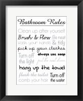 Framed Bath Rules Blk