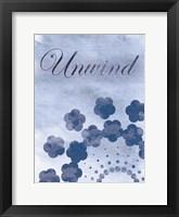 Framed Unwind Blue Spa 2