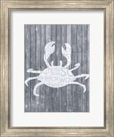 Framed Crab Wood Panel