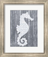 Framed Seahorse Wood Panel