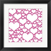 Framed Pink Heart Storm