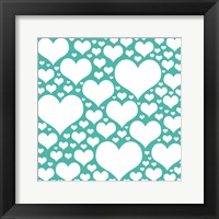 Framed Teal Heart Storm