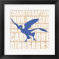 Framed Flying Dino