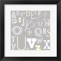 Framed Kids Alphabet Gray 2