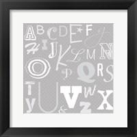 Framed Kids Alphabet Gray