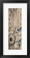Framed Floral Clock