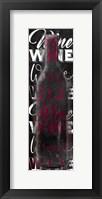 Framed Red Wine Words