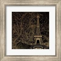 Framed Eiffel Map
