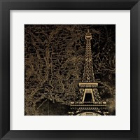 Framed Eiffel Map