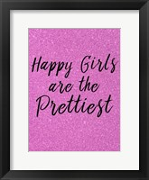 Framed Happy Girls Pink