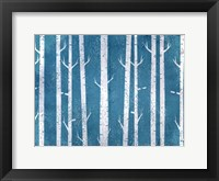 Framed Blue In the Birches