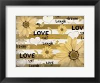 Framed Love Dream Laugh