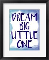 Framed Dream Big 1
