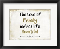 Framed Love of Family