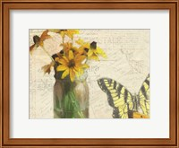 Framed Carte Postale Sunflowers