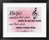Framed Music Expresses