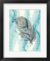 Framed Henna Feather 1