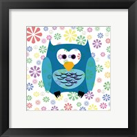 Framed Owls and Flowers 2