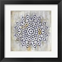 Indigo Tile 1 Framed Print