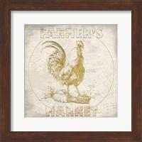 Framed Golden Farmers Market