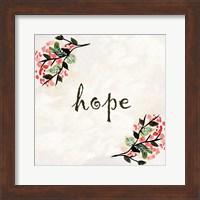 Framed Floral Hope