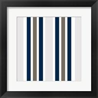 Indigo Coral Pattern Framed Print