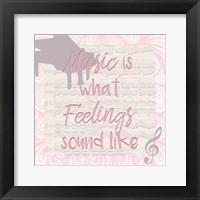Music Is Framed Print
