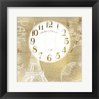 Framed Paris Time Gold
