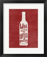 Framed Bottled Wine