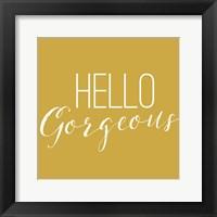 Framed Hello Gorgeous 2