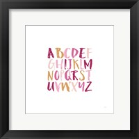 Framed Girl Upper Letters