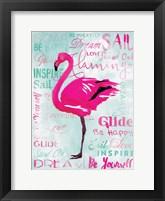 Framed Sky Flamingo