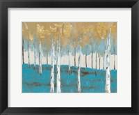 Framed Golden Birch Ocean