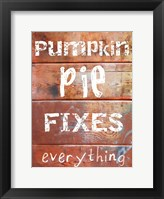Framed Pumpkin Pie Fixes Everything